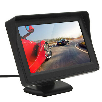 4.3 Inch 480*272 TFT LCD Digital Panel 2-Channel Video DVD Car Rear View Monitor
