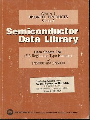 1974 MOTOROLA Semiconductor Data Library Discrete Products Series A Vol.1