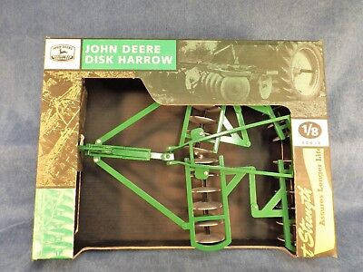 JOHN DEERE DISK HARROW - BIG 1/8 SCALE - NEVER REMOVED FROM BOX - 1990's