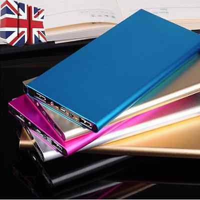 50000mAh Ultra Thin Power Bank External Pack 2 USB Charger For Mobile Phone UK