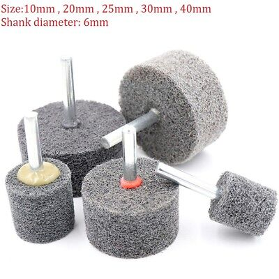 10mm-40mm Nylon Fiber Polishing Buffing Wheel Pad Cylinder 6mm Shank For Drill