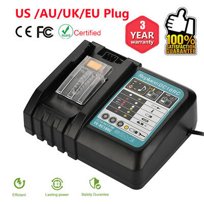 For Makita DC18RC Fast Lithium-Ion Battery Charger BL1830/1840/1850/BL Battery S
