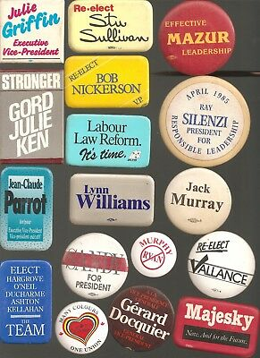 Trade Union buttons - large lot