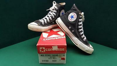Vtg 1980's Converse Chuck Taylor All Star High Top Mens Shoes Size 7 Made In Usa