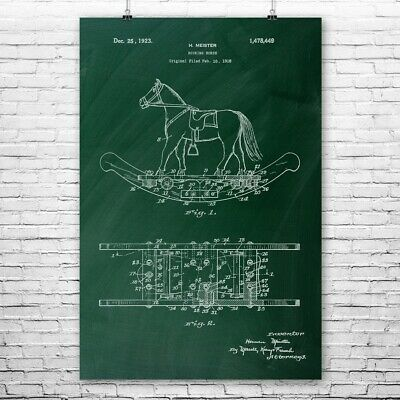 Rocking Horse Poster Print Toy Collector Gift Childrens Room Wooden Horse