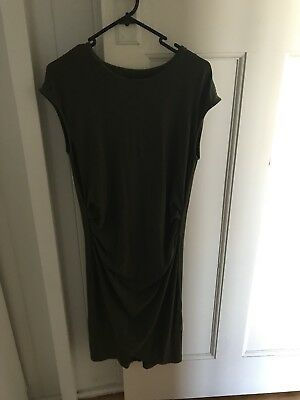 BAE the label maternity stretch dress khaki All or Nothing small 10