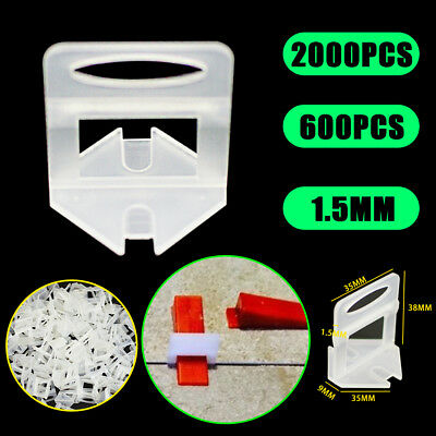 600/2000x Tile Leveling System Clips Wall Floor Tiling Keep Balance Spacer Tool