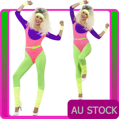 Ladies 80s Aerobics Workout Costume Retro Gym Work Out Physical Fitness Bodysuit  sc 1 st  PicClick UK & CA212 WORK Out Girl Workout Womens Olivia Newton John Costume 80s ...