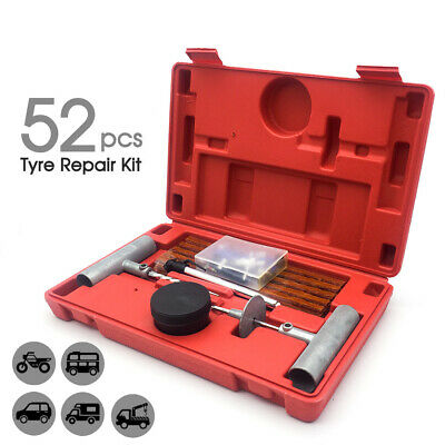 52PCS Tyre Puncture Repair Recovery Kit Heavy Duty 4WD Offroad Tool Plugs Tube