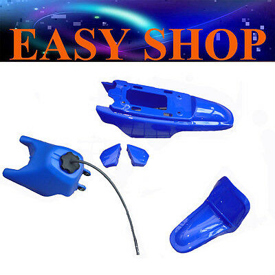 Blue Plastic Fender Kit Body Cover Fairing + Petrol Fuel Tank Yamaha PW50 PY50