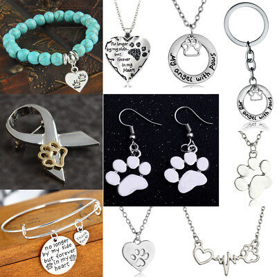 Dog Paw Print Silver Jewellery Chain Ring Earrings Necklace Or Bracelet Charm