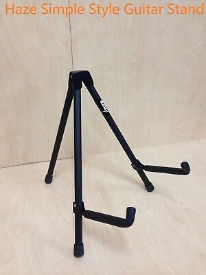 Haze Simple Style Complete Foldable Guitar Stand,Black, Portable,Light-Weight