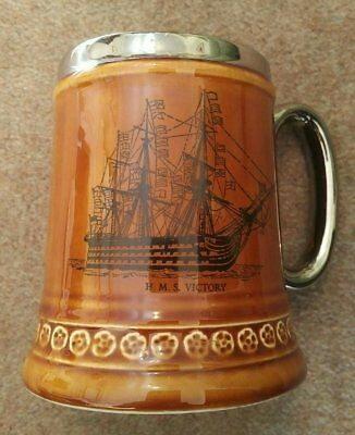 HMS Victory Napoleonic Battle of Trafalgar Tankard Lord Nelson Pottery Limited
