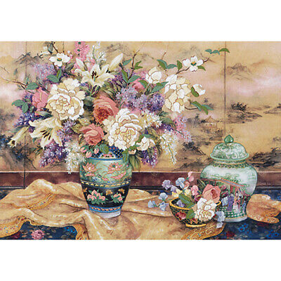 "Dimensions Oriental Splendor Crewel Kit-20""X14"" Stitched In Wool & Yarn"
