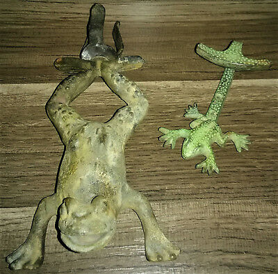 Lot Of 2 Cast Iron Frogs