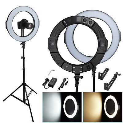 """18"""" 288pcs LED Photography Ring Light Dimmable 5600K Lighting Photo Video Stand"""
