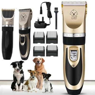 Electric Pet Shave Hair Clipper Dog Cat Grooming Trimming Kit Low Noise Cordless