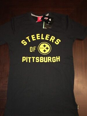 369196792 NEW Nike NFL Team Apparel Pittsburgh Steelers Black Soft T-Shirt Mens Small