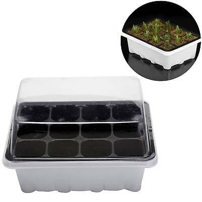 12 Cells Holes Plant Seeds Grow Box Tray Insert Propagation Seeding Case Planter