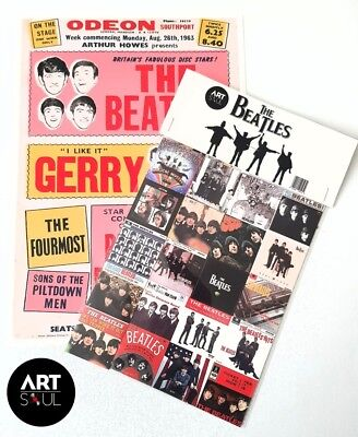 The Beatles Set Of 20 Limited Edition Fridge Magnets - Free UK Shipping Help!