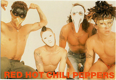 """C 362 """"Red Hot Chilli Peppers""""Publicity Postcard"""