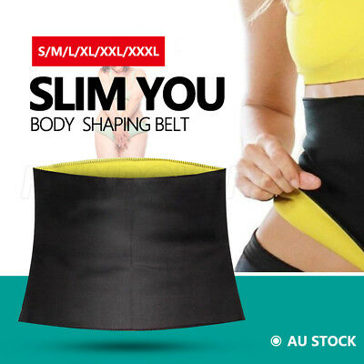 Hot Shapers Belt Slim Fit Body Shaper Belly Waist Trimmer Fat Burn Shape AU