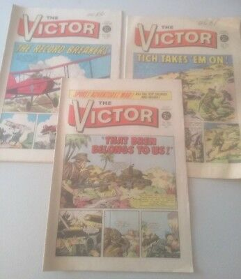 The Victor Comic x3 From 1971 #562,564,565