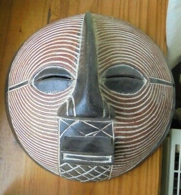 masque africain bois ,cote d'ivoire ?mali?cameroun? songwe (n°11)