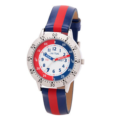 NEW Cactus Watches Time Smart Time Teacher with Red/Blue Strap