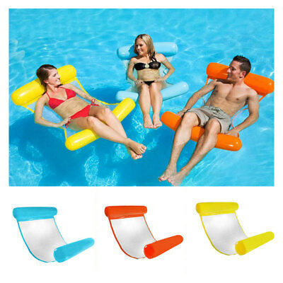 NEW Summer Premium Swimming Pool Inflatable Floating Water Hammock Lounge Chair