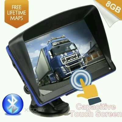 "XGODY 886 7"" HD Touch Screen GPS Navigation System 8GB Bluetooth for Truck&Car"