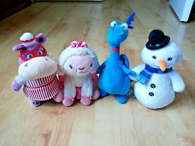 4  Plush  Soft toys   Disney  store  Mcstuffins Chilly  Lambie  Stuffy  Hallie