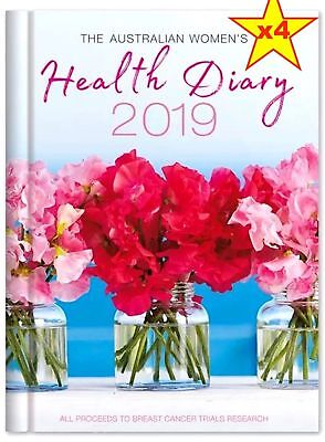 4x 2019 The Australian Women's Health Diary Daily Journal A5 Week to View, WTO
