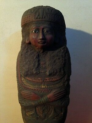Rare Antique Ancient Egyptian Shabti Godess Isis scarab isis1257-1224BC