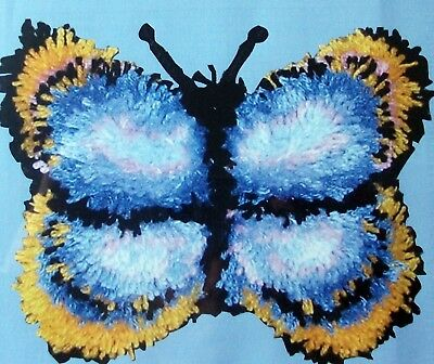 "Mcg Textiles Latch Hook    Rug/pillow  Kit "" Blue Butterfly"""