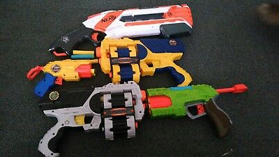 joblot of play guns ic nerf