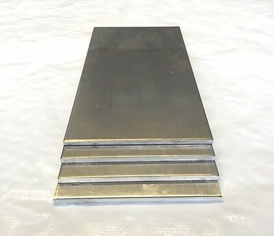 "3 Pieces - 1/4"" Aluminum Sheet Scrap Drops 6"" x 24""  5083 DIY Samples"