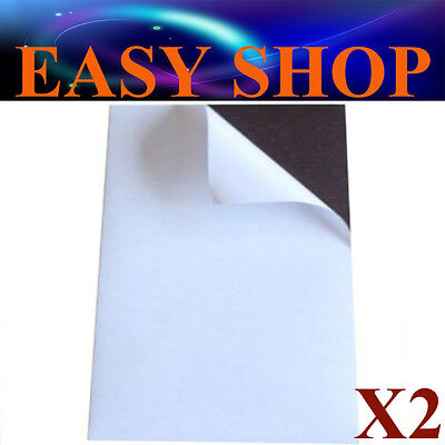 2Pk A4 Magnetic Magnet Sheets Sticky Self Adhesive 0.5mm DIY Hand Craft Fridge