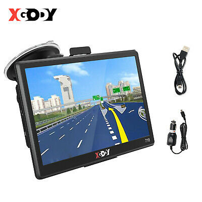 "7"" Portable Sat Nav Vehicle Car LGV GPS Navigation 8GB Bluetooth AV-IN XGODY 718"
