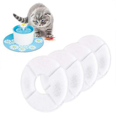 UK Auto Cat Pet Dog Water Fountain Charcoal Filter for Pet Fresh Bowl Drink Dish