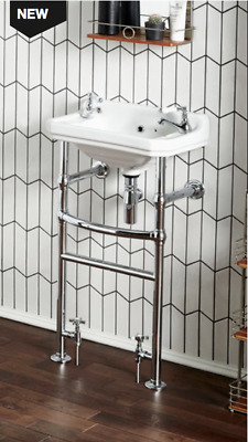 Holborn Heated Washstand with 500mm 2TH Basin (not including taps and waste)