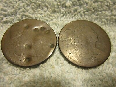 1794 Liberty Cap & 1796 Draped Bust, lot of two cull large cents  (JXC)A