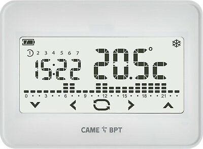 BPT TH550 WH wifi Thermostat programmable à écran tactile WIFI mural, BLANC