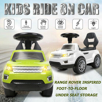 Land Rover Inspired Kids Ride On Car Push Toy Foot-to-Floor Toddler Walker Gift