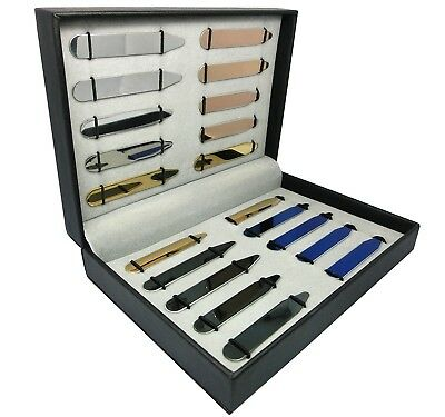 20 pcs Stainless Steel Collar Stays 5 Colors in a High-Quality Box - 5 Sizes NEW