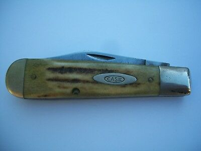 Vintage Case XX U.S.A. Knife #5299-1/2, Stag Handle, 1965-1969