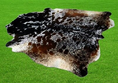 "New Cowhide Rugs Area Cow Skin Leather 31.56 sq.feet (71""x64"") Cow hide P-507"