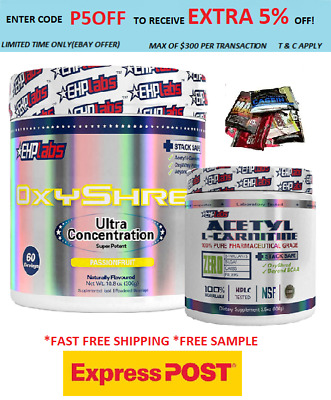 Ehplabs Oxyshred Thermogenic Fat Burning & Lcarnitine/ Express /Weight Loss//