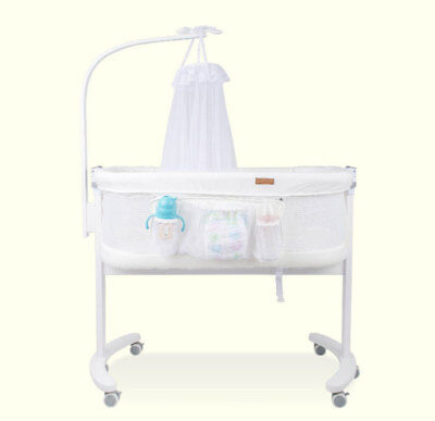 Deluxe Baby Bassinet Bed Baby Cot W/ Soothing Music Vibration Projection