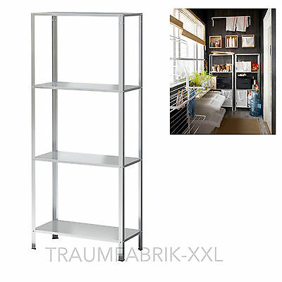 IKEA Warehouse shelf stacking Rack Cellar Workshop Metal Shelves 140x60cm